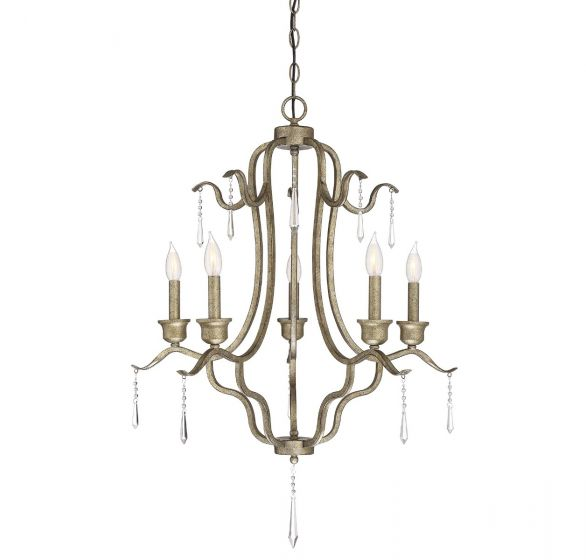 Trade Winds 5-Light Chandelier in Antique Gold