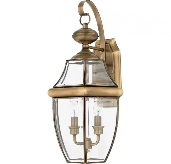 "Quoizel Newbury Classic 10.75"" Outdoor Wall Lantern in Brass"