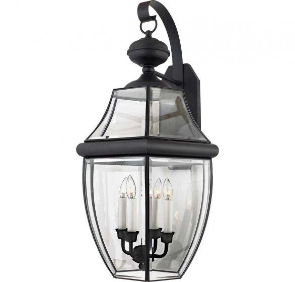 "Quoizel Newbury Classic 16"" Outdoor Wall Lantern in Black"