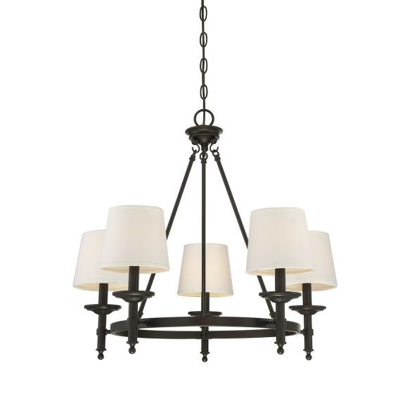 "Trade Winds Rustic 5-Light 24"" Rustic Chandelier in Oil Rubbed Bronze"