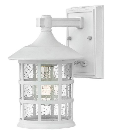 """Hinkley Freeport LED Outdoor 9.25"""" Wall Mount Light in Classic White"""