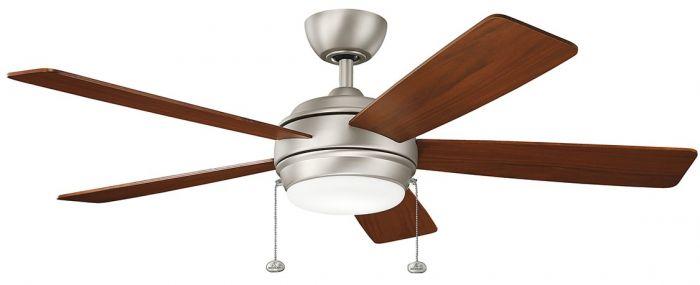 """Kichler Starkk 52"""" LED Ceiling Fan in Brushed Nickel"""