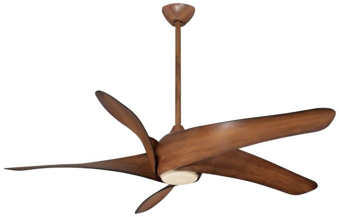 "Minka-Aire Artemis XL5 LED 62"" LED Ceiling Fan in Distressed Koa"