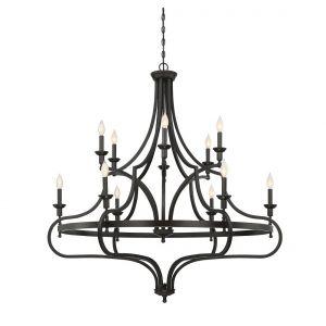 Savoy House Sheilds 12-Light Chandelier in English Bronze