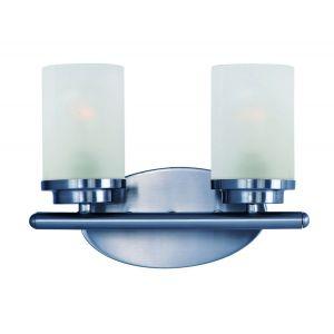 "Maxim Lighting Corona 12"" 2-Light Bath Vanity in Polished Chrome"