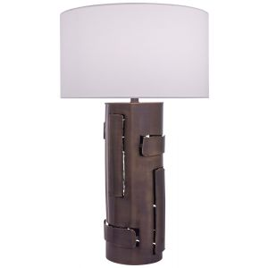 Minka Lavery Ambience 1-Light Table Lamp in Dark Antique Brass