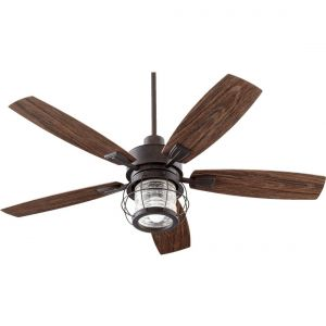"Quorum International Galveston 52"" Outdoor Ceiling Fan in Toasted Sienna"