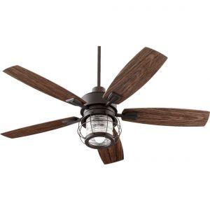 """Quorum Galveston 52"""" 5-Blade Indoor/Outdoor Fan in Oiled Bronze"""