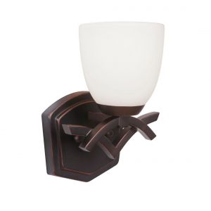 Craftmade Viewpoint White Frosted Wall Sconce in Oil Bronze Gilded