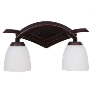 Craftmade Viewpoint 2-Light Vanity Light in Oil Bronze Gilded