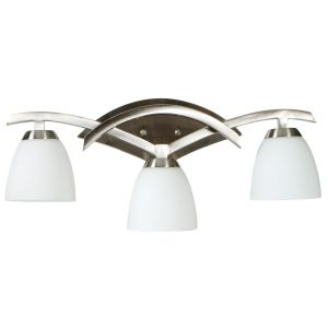 Craftmade Viewpoint 3-Light Bath Vanity in Brushed Nickel w/Cased Glass