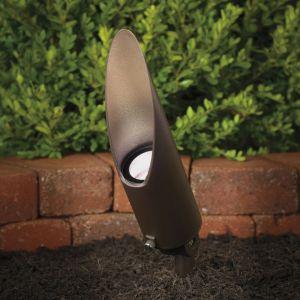 "Kichler Landscape 10"" Clr Glass Accent in Textured Architectural Bronze"