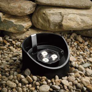 """Kichler Landscape 8"""" 3-Light 60 Degree LED Well Light in Textured Black"""