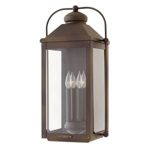 Hinkley Anchorage 4-Light Outdoor Extra Large Wall Sconce in Light Oiled Bronze