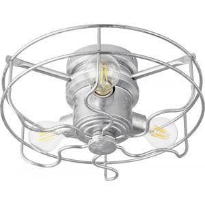 Quorum International Windmill 3-Light Cage Kit in Galvanized