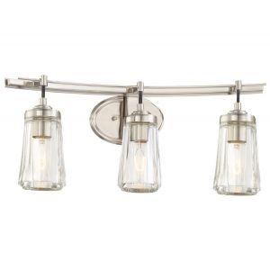 "Minka Lavery Poleis 3-Light 24"" Bathroom Vanity Light in Brushed Nickel"