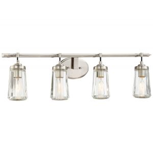 "Minka Lavery Poleis 4-Light 32"" Bathroom Vanity Light in Brushed Nickel"