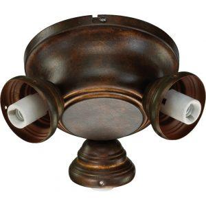 """Quorum Salon 8"""" 3-Light Ceiling Fan Light Kit in Corsican Gold"""