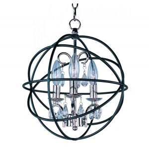 Maxim Lighting Orbit 3-Light Pendant in Anthracite and Polished Nickel