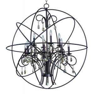 "Maxim Lighting Orbit 40"" 12-Light Pendant in Oil Rubbed Bronze"