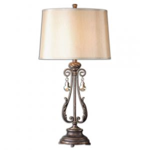 "Uttermost Cassia 35"" Table Lamp in Distressed Oil Rubbed Bronze"