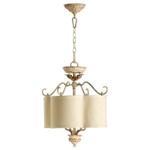 "Quorum International Salento 4-Light 18"" Pendant Light in Persian White"