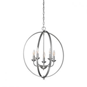 Millennium Lighting 3000 Series 5-Light Pendant in Brushed Pewter