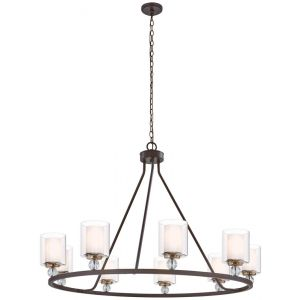 Minka Lavery Studio 5 Chandelier in Painted Bronze W/Natural Brush