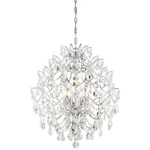 Minka Lavery Isabella'S Crown 6-Light Traditional Chandelier in Chrome