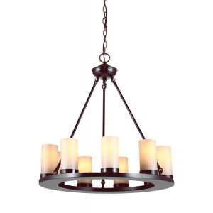 Sea Gull Lighting Ellington 9-Light Chandelier in Burnt Sienna