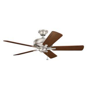 """Kichler Terra 52"""" Ceiling Fan in Brushed Nickel"""