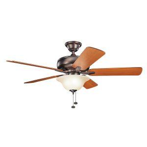 """Kichler Terra Select 52"""" Ceiling Fan in Oil Brushed Bronze"""