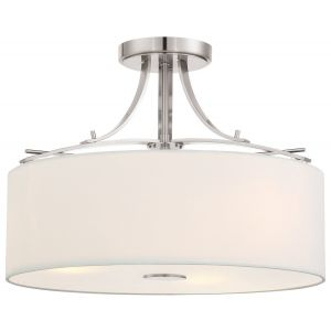 "Minka Lavery Poleis 3-Light 17"" Ceiling Light in Brushed Nickel"