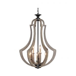 Craftmade Winton 9-Light Foyer in Weathered Pine/Bronze