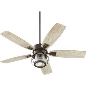 "Quorum International Galveston 52"" Indoor Ceiling Fan in Oiled Bronze"