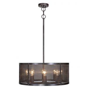 """Craftmade Blacksmith 8-Light 25"""" Pendant Light in Matte Black Gilded"""