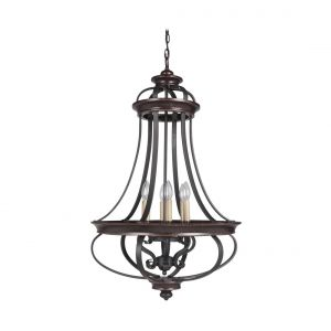 Craftmade Stafford 6-Light Foyer Light in Aged Bronze/Textured Black