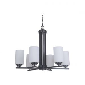 Craftmade Albany 6-Light Chandelier in Oiled Bronze