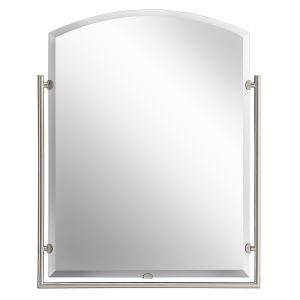 "Kichler Structures 30"" Mirror in Brushed Nickel"