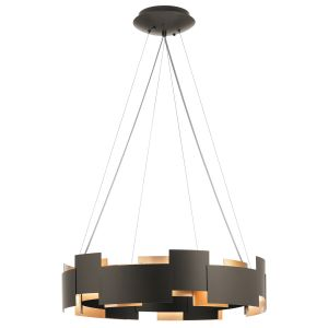 "Kichler Moderne 26.5"" 2-Light Chandelier Round Pendant in Olde Bronze"