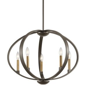 Kichler Elata 5-Light Drum Pendant in Olde Bronze