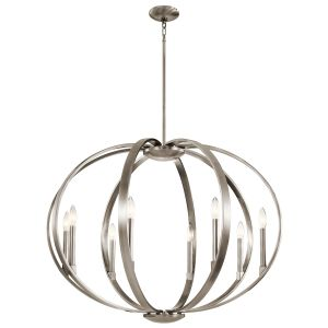 Kichler Elata 8-Light Drum Pendant in Classic Pewter
