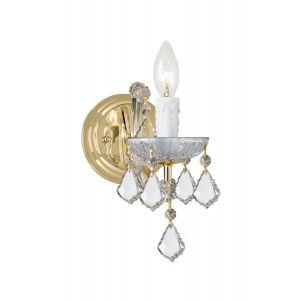 Crystorama Maria Theresa 1-Light Hand Cut Crystal Sconce