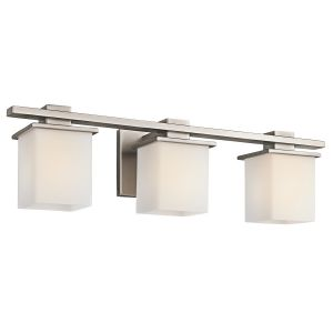 Kichler Tully 3-Light Bath Wall Mount in Antique Pewter