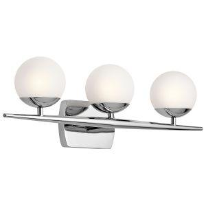 Kichler Jasper 3-Light Bathroom Vanity Light in Chrome