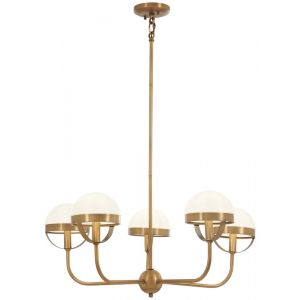 Minka Lavery Tannehill 5-Light Chandelier in Antique Noble Brass
