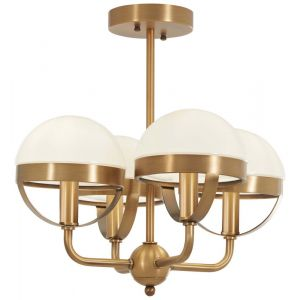 1ddf82187179 Minka Lavery Harbour Point 3-Light Semi-Flush in Brushed Nickel ...