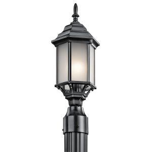 Kichler Chesapeake 1-Light Outdoor Post Lantern in Black