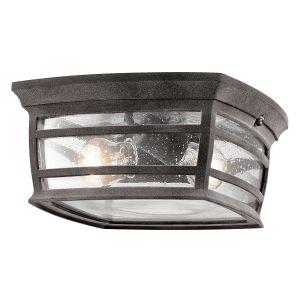 Kichler McAdams 2-Light Outdoor Flush & Semi Flush in Weathered Zinc