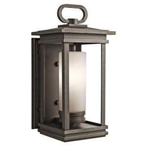 """Kichler South Hope 1-Light 19.75"""" Large Outdoor Wall in Rubbed Bronze"""